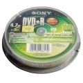 索尼 DVD+R/DVD-R 刻录盘 10片装