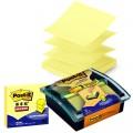 3M Post-it R330 黄色 6本装 抽取式报事贴(送水晶底座)抽取式系列便条纸
