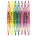 斑马(ZEBRA)WKT4 小双头 环保荧光笔(红色、蓝色、橙色、绿色、粉红色)