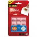 3M思高(Scotch)R101 可再贴双面胶片 无痕无痕水晶贴 重复使用 可水洗