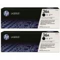 惠普(HP)LaserJet 36A CB436AF 黑白硒鼓 双包装 2只装(适用LaserJet M1120 M1522nf P1505 P1505N)