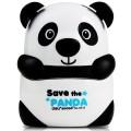 得力deli 0518国宝大熊猫削笔机器 卡通动物手摇转笔刀 学生铅笔销笔机