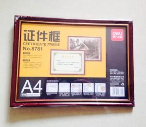 deli得力 证件框 8781 A4大小 297*210mm 相框 镜框