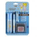 Snowhite白雪 可擦钢笔组合 M-19 普通笔尖 可换囊 直液式系统钢笔组合  两色外观可选