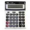 deli得力 计算器 1654 经济型12位大屏幕计算器