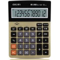deli得力计算器 语音计算器 1541A语音计算器 财务会计专用 语音型12位 太阳能双电源 大屏计算器 金色