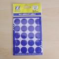 卓联自粘性标签   ZL-32     不干胶   标签贴纸    圆点不干胶   直径20mm   粉 蓝 青