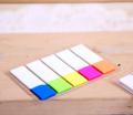 得力9062彩色百事贴便利贴 5色荧光膜指示标贴记事贴 分类标签贴