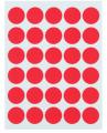 标签贴纸不干胶粘性标签纸 红色圆形标记圆点记号标贴得力6422