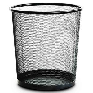 得力(deli)9190 金属网 废纸篓 常用大小   金属垃圾桶 直径28cm
