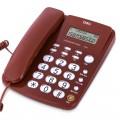 deli得力电话机  固定电话 787  黑色白色红色三色 免提 来电显示 家用办公电话机