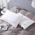 太湖雪羽绒枕芯 全棉枕套+白鹅毛枕芯 全棉面料 白鹅毛填充