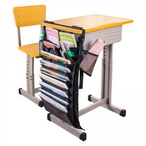 deli得力挂书袋 9层 多功能可调 便携学生课本收纳袋 72364