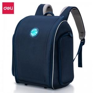 deli得力学生书包 小学生儿童背包 0.9Kg 防水反光轻便透气书包双肩包 B5