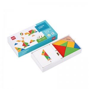 deli得力七巧板套装 100种玩儿童法益智玩具 74518