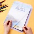 deli得力包书膜 切角包书膜套装 27页多规格学生书皮套装 70568
